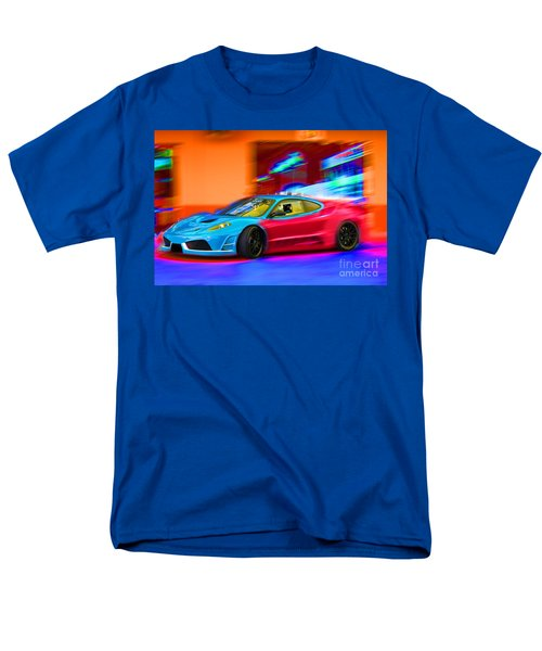 Men's T-Shirt  (Regular Fit) featuring the photograph Ferrari Baby Blue by Gunter Nezhoda