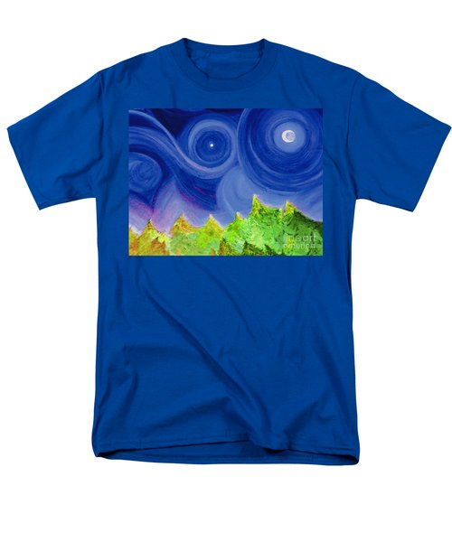Men's T-Shirt  (Regular Fit) featuring the painting First Star By  Jrr by First Star Art