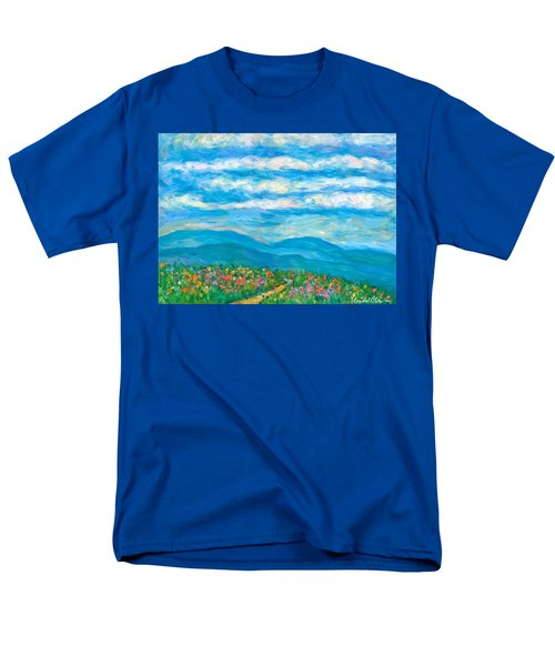 Flower Path To The Blue Ridge Men's T-Shirt  (Regular Fit) by Kendall Kessler