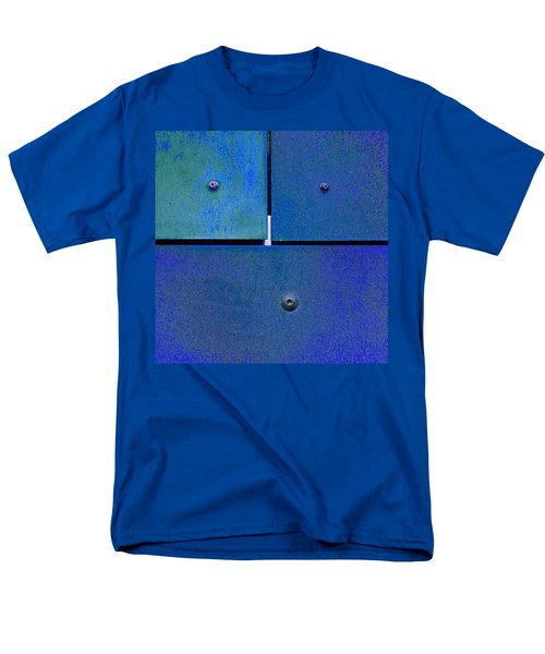 Men's T-Shirt  (Regular Fit) featuring the photograph Four Five Six - Colorful Rust - Blue by Menega Sabidussi