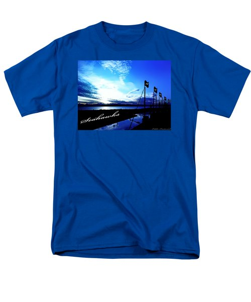 Men's T-Shirt  (Regular Fit) featuring the photograph Go Seahawks by Eddie Eastwood