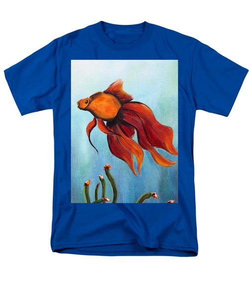Men's T-Shirt  (Regular Fit) featuring the painting Goldfish by Jolanta Anna Karolska