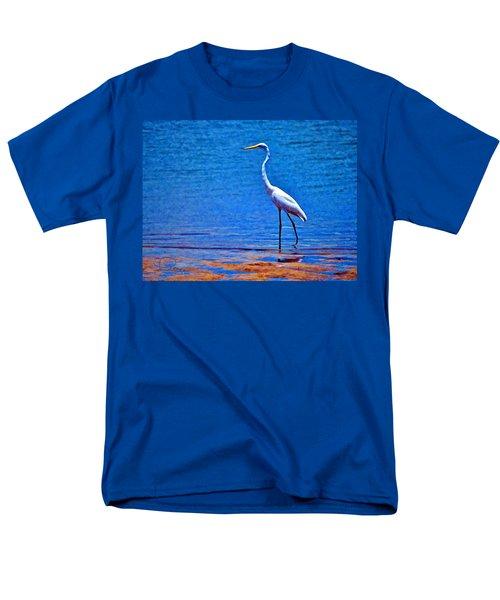 Great Egret Men's T-Shirt  (Regular Fit) by Ludwig Keck
