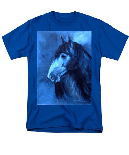 Men's T-Shirt  (Regular Fit) featuring the painting Horse - Carol In Indigo by Go Van Kampen