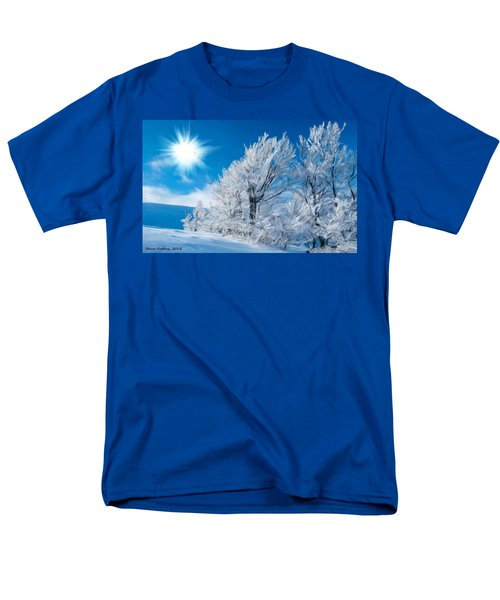 Icy Trees Men's T-Shirt  (Regular Fit) by Bruce Nutting