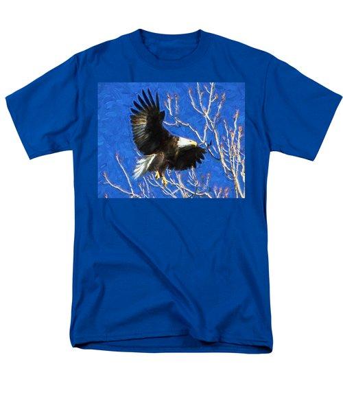 Men's T-Shirt  (Regular Fit) featuring the photograph Inbound Eagle by John Freidenberg