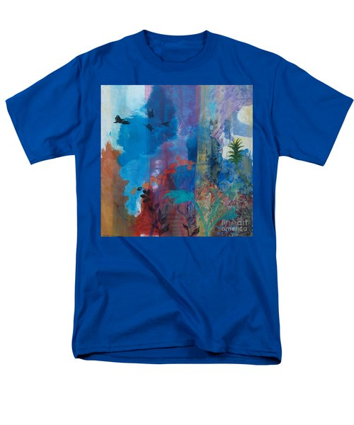 Men's T-Shirt  (Regular Fit) featuring the painting It Ain't A Fable Baby by Robin Maria Pedrero