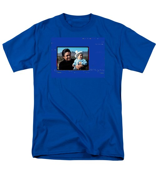 Men's T-Shirt  (Regular Fit) featuring the photograph Johnny Cash John Carter Cash Old Tucson Arizona 1971 by David Lee Guss