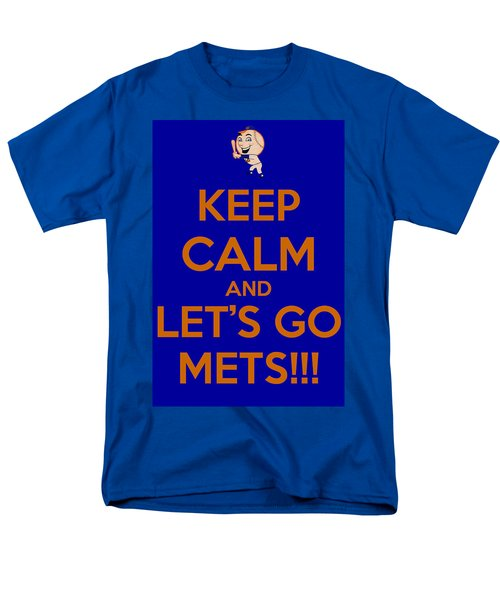 Keep Calm And Lets Go Mets Men's T-Shirt  (Regular Fit) by James Kirkikis