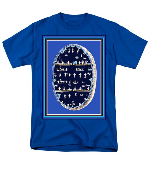 Men's T-Shirt  (Regular Fit) featuring the digital art Lappish Shaman's Ritual Drum by Vagabond Folk Art - Virginia Vivier
