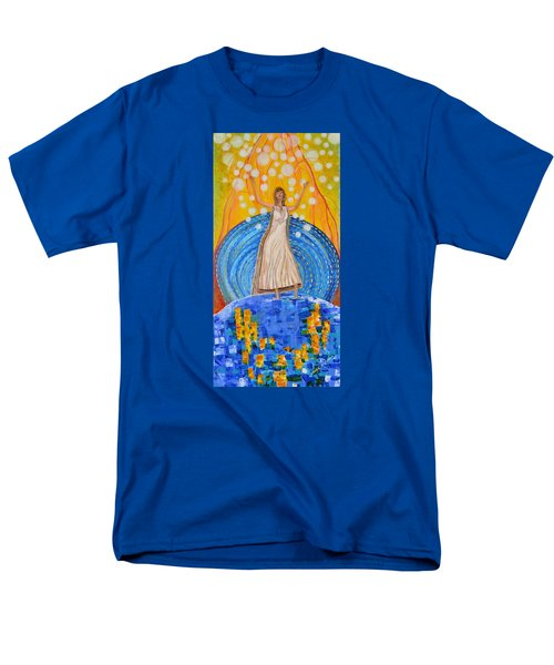 Men's T-Shirt  (Regular Fit) featuring the painting Lifting The Veil by Cassie Sears