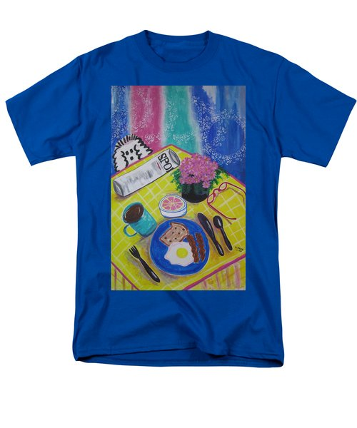Men's T-Shirt  (Regular Fit) featuring the painting Makin' His Move by Diane Pape