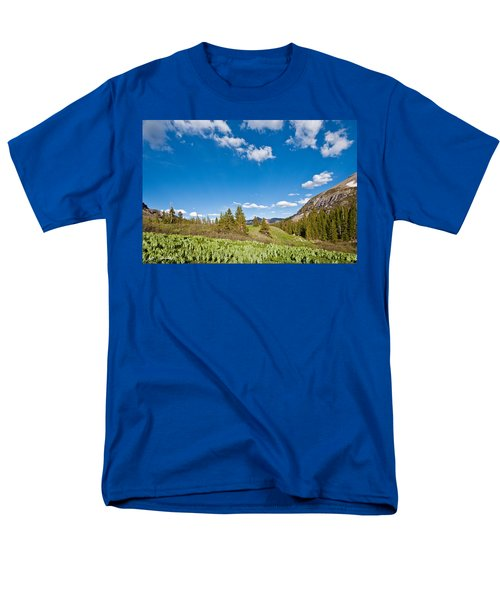 Men's T-Shirt  (Regular Fit) featuring the photograph Meadow Of False Hellebore by Jeff Goulden