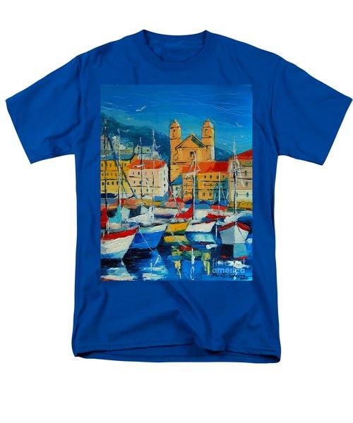Mediterranean Harbor Men's T-Shirt  (Regular Fit)