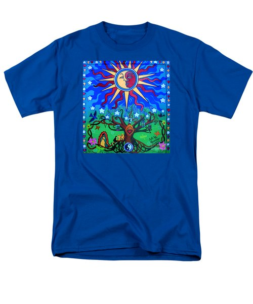 Mexican Retablos Prayer Board Small Men's T-Shirt  (Regular Fit) by Genevieve Esson