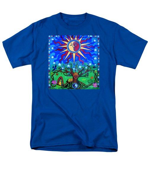 Mexican Retablos Prayer Board Small Men's T-Shirt  (Regular Fit)