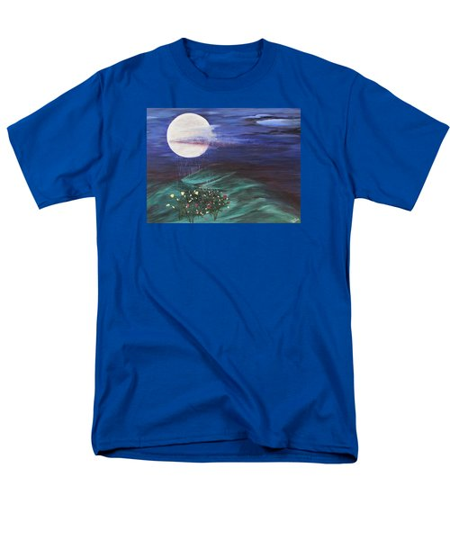 Men's T-Shirt  (Regular Fit) featuring the painting Moon Showers by Cheryl Bailey