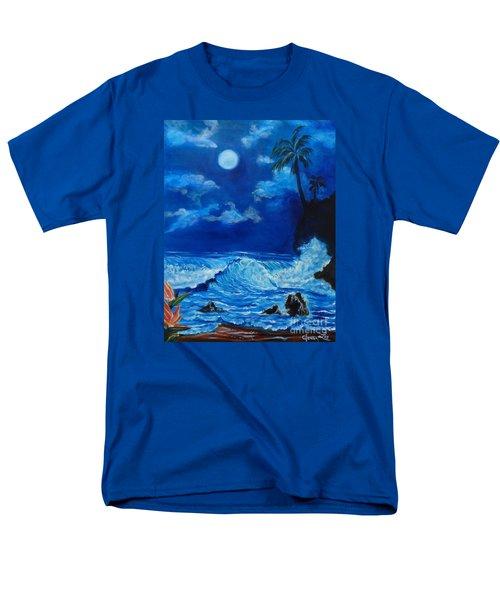 Moonlit Hawaiian Night Men's T-Shirt  (Regular Fit)
