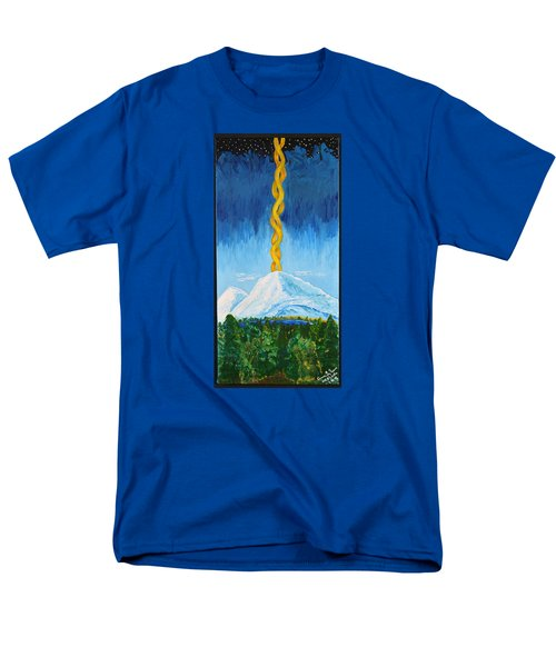 Men's T-Shirt  (Regular Fit) featuring the painting Mt. Shasta by Cassie Sears