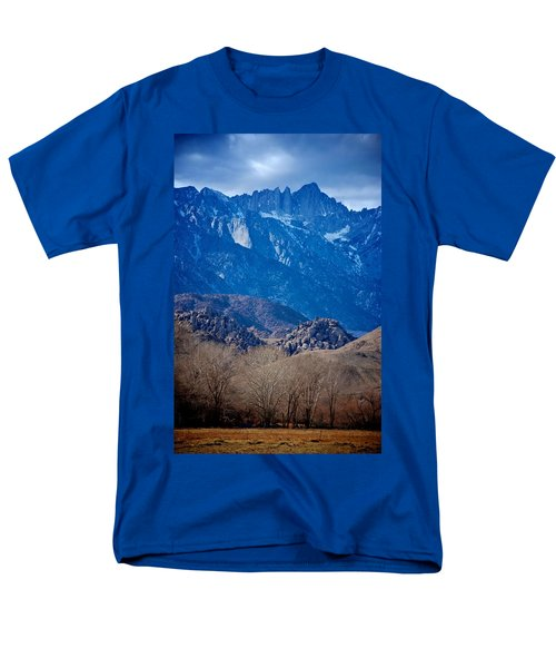 Mt. Whitney And Alabama Hills Men's T-Shirt  (Regular Fit) by Eric Tressler