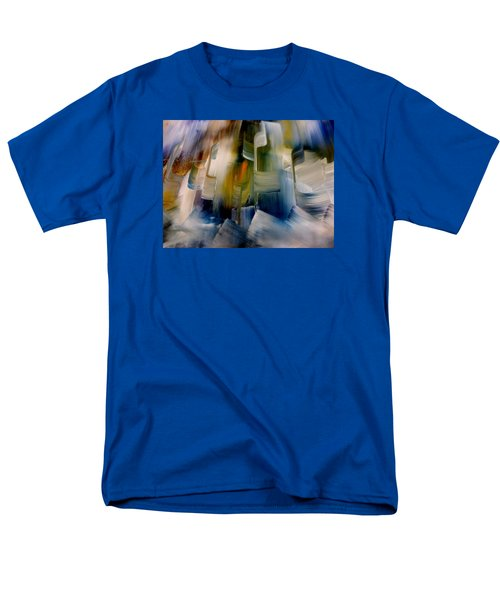 Men's T-Shirt  (Regular Fit) featuring the painting Music With Paint by Lisa Kaiser