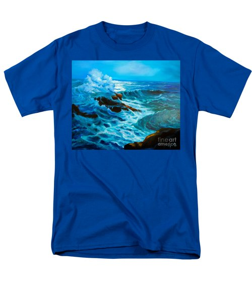 Men's T-Shirt  (Regular Fit) featuring the painting Ocean Deep by Jenny Lee