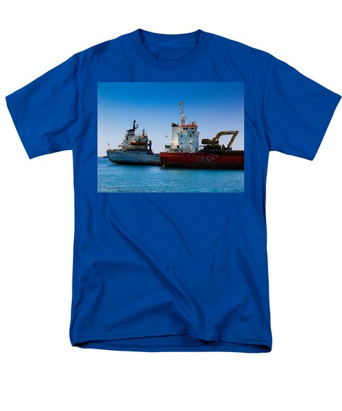 Men's T-Shirt  (Regular Fit) featuring the photograph Old Ships by Kevin Desrosiers