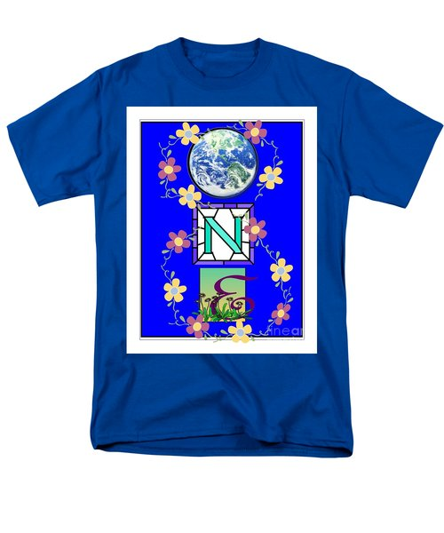 Men's T-Shirt  (Regular Fit) featuring the digital art Universal One-ness by Bobbee Rickard