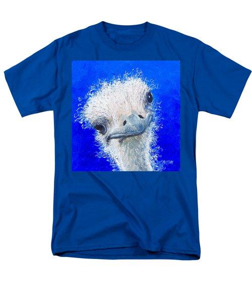 Ostrich Painting 'waldo' By Jan Matson Men's T-Shirt  (Regular Fit) by Jan Matson