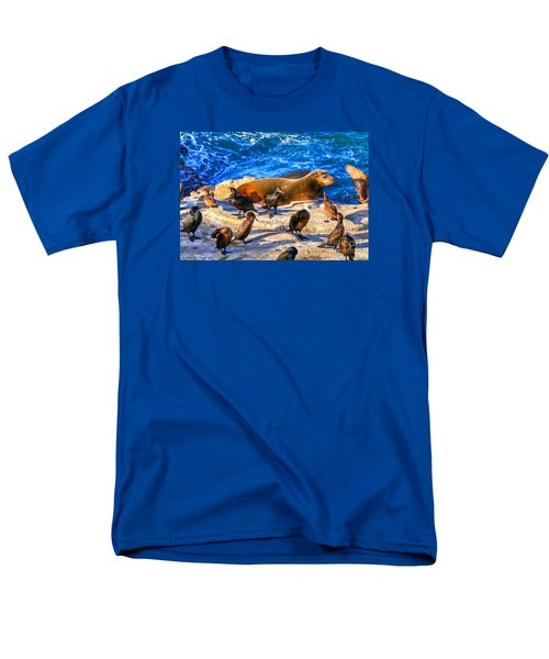 Men's T-Shirt  (Regular Fit) featuring the photograph Pacific Harbor Seal by Jim Carrell