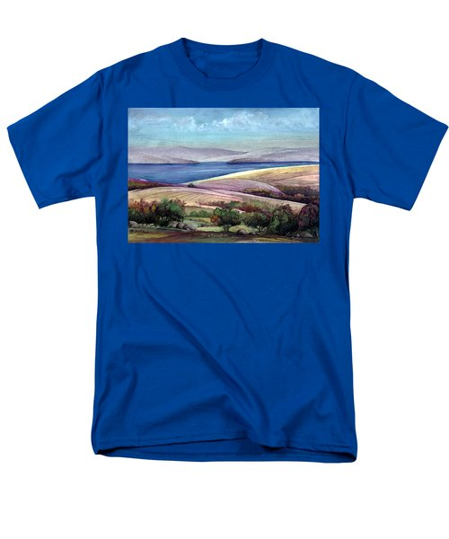 Men's T-Shirt  (Regular Fit) featuring the painting Palestine View by Mikhail Savchenko