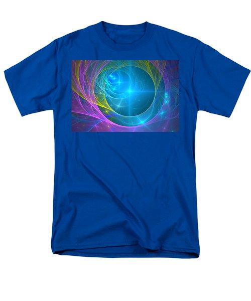 Men's T-Shirt  (Regular Fit) featuring the digital art Parallel Realities by Svetlana Nikolova
