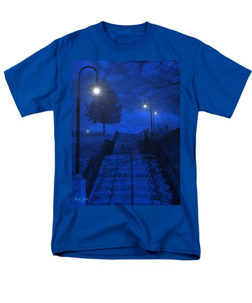 Men's T-Shirt  (Regular Fit) featuring the photograph Park Stairs by Michael Rucker