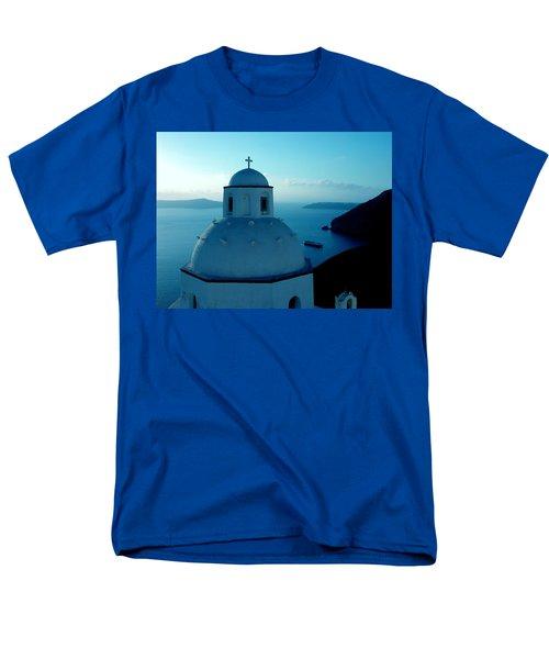 Peacefull Santorini Greek Island  Men's T-Shirt  (Regular Fit) by Colette V Hera  Guggenheim