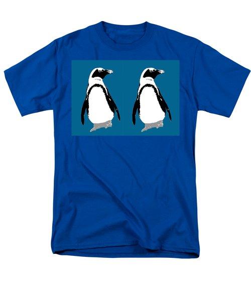 Penguin Twins  Men's T-Shirt  (Regular Fit) by Joyce  Wasser