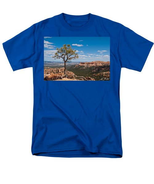 Men's T-Shirt  (Regular Fit) featuring the photograph Ponderosa Pine Tree Clinging To Life On Canyon Rim by Jeff Goulden