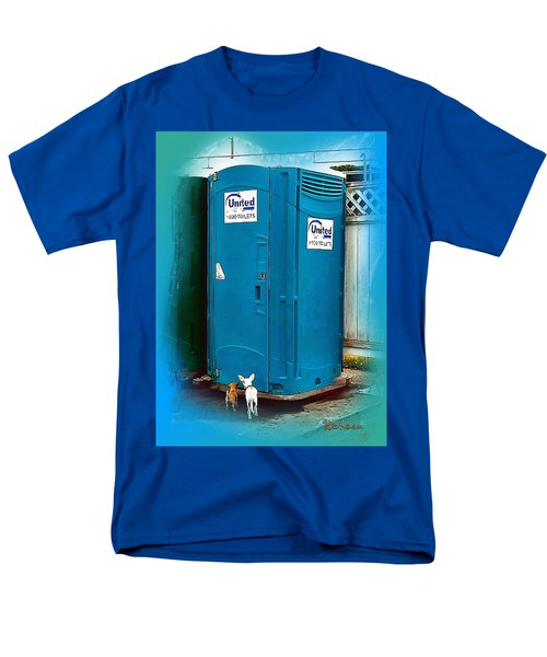 Porta Puppy Potty... Men's T-Shirt  (Regular Fit) by Sadie Reneau