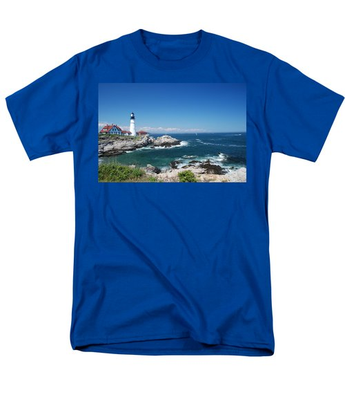 Portland Head Lighthouse Men's T-Shirt  (Regular Fit) by Allen Beatty