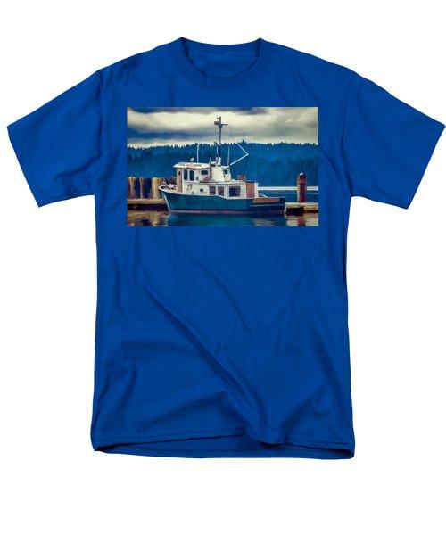 Poulsbo Waterfront 03 Men's T-Shirt  (Regular Fit) by Wally Hampton