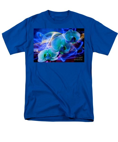 Men's T-Shirt  (Regular Fit) featuring the photograph Prismatic Orchid Swirl by Judy Palkimas