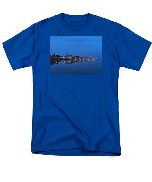 Promenade In Blue  Men's T-Shirt  (Regular Fit) by Spikey Mouse Photography