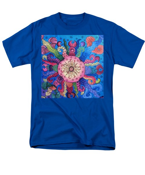Men's T-Shirt  (Regular Fit) featuring the painting Psychedelic Squid 2 by Megan Walsh