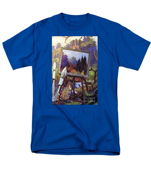 Men's T-Shirt  (Regular Fit) featuring the painting Put Color In Your Life by Eloise Schneider