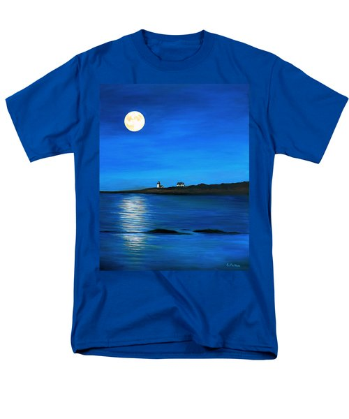 Rockport Harvest Moon Men's T-Shirt  (Regular Fit) by Eileen Patten Oliver