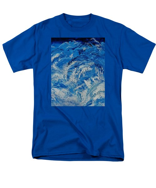 Men's T-Shirt  (Regular Fit) featuring the painting Rush by Katherine Young-Beck