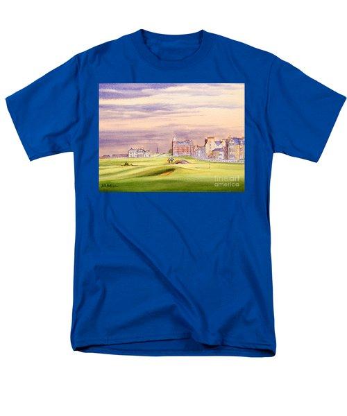 Saint Andrews Golf Course Scotland - 17th Green Men's T-Shirt  (Regular Fit) by Bill Holkham
