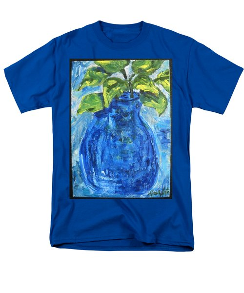 Men's T-Shirt  (Regular Fit) featuring the painting Simple Greens by Reina Resto