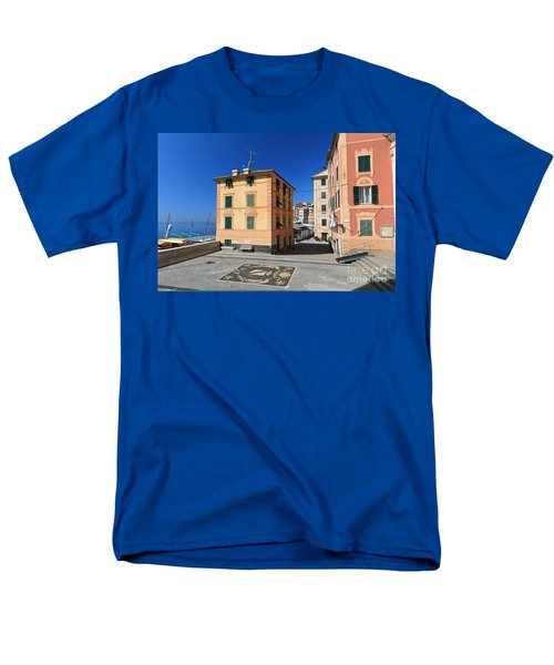Men's T-Shirt  (Regular Fit) featuring the photograph small square in Sori by Antonio Scarpi