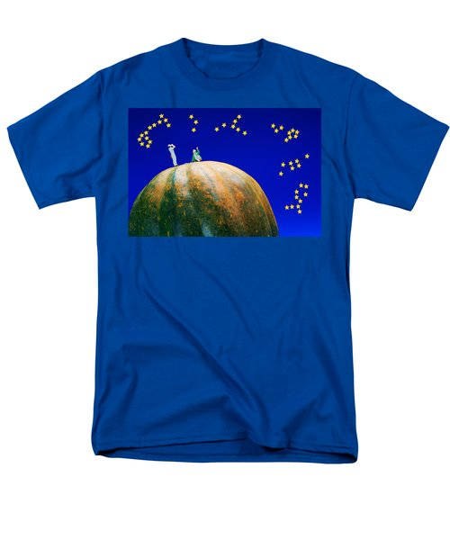 Men's T-Shirt  (Regular Fit) featuring the photograph Star Watching On Pumpkin Food Physics by Paul Ge