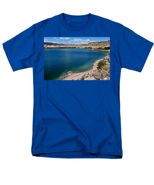 Men's T-Shirt  (Regular Fit) featuring the photograph Steinacker Reservoir Utah by Janice Rae Pariza